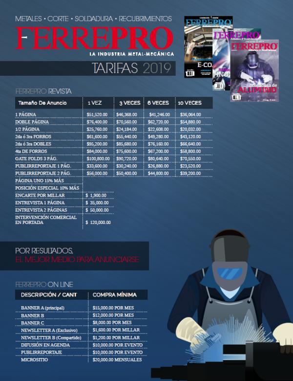 TARIFAS FERREPRO 2019