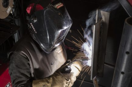 Gas shielded flux cored (FCAW-GS) welding at Lincoln Electric's Welding Techology Training Center